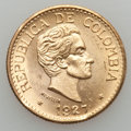 Colombia, Colombia: Republic gold 5 Pesos 1927,...