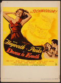 "Movie Posters:Musical, Down to Earth (Columbia, 1946). Trimmed Window Card (14"" X 19.25""). Musical.. ..."