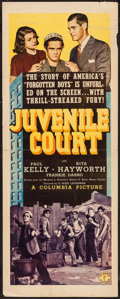 "Movie Posters:Crime, Juvenile Court (Columbia, 1938). Insert (14"" X 36""). Crime.. ..."
