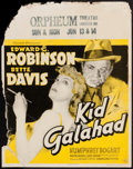 "Movie Posters:Crime, Kid Galahad (Warner Brothers, 1937). Jumbo Window Card (22"" X 28"").Crime.. ..."