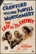 "Movie Posters:Crime, The Last of Mrs. Cheyney (MGM, 1937). One Sheet (27"" X 41"") StyleC. Crime.. ..."