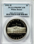 Modern Issues: , 1992-W $1 White House Silver Dollar PR69 Deep Cameo PCGS. PCGSPopulation (2365/96). NGC Census: (2612/57). Mintage: 375,84...
