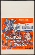 "Movie Posters:Western, They Died with Their Boots On (Warner Brothers, 1941). Window Card (14"" X 22""). Western.. ..."