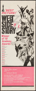 "Movie Posters:Academy Award Winners, West Side Story (United Artists, 1962). Insert (14"" X 36""). AcademyAward Style.. ..."