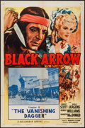"""Movie Posters:Serial, Black Arrow (Columbia, R-1955). One Sheet (27"""" X 41"""") Chapter 8 --""""The Vanishing Dagger."""" Serial.. ..."""
