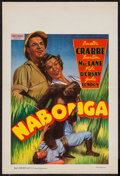 "Movie Posters:Adventure, Nabonga (Uncibel, Late 1940s). First Post War Belgian (11.5"" X17""). Adventure.. ..."