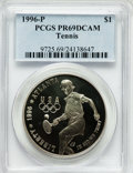 Modern Issues: , 1996-P $1 Olympic/Tennis Silver Dollar PR69 Deep Cameo PCGS. PCGSPopulation (1174/9). NGC Census: (1108/8). Numismedia Ws...