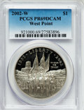 Modern Issues: , 2002-W $1 West Point Silver Dollar PR69 Deep Cameo PCGS. PCGSPopulation (3048/208). NGC Census: (3652/1661). Numismedia W...