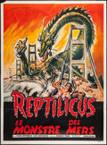 """Movie Posters:Science Fiction, Reptilicus (American International, 1961). French Grande (46"""" X63""""). Science Fiction.. ..."""