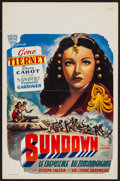 "Movie Posters:War, Sundown (Alfa Films, R-1950s). Belgian (14"" X 22""). War.. ..."