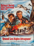 "Movie Posters:War, Where Eagles Dare (MGM, 1968). French Grande (46"" X 62""). War.. ..."