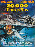 "Movie Posters:Science Fiction, 20,000 Leagues Under the Sea (Buena Vista, R-1976). French Grande(45.5"" X 61""). Science Fiction.. ..."