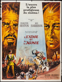"The Agony and the Ecstasy (20th Century Fox, 1966). French Grande (47"" X 63""). Drama"