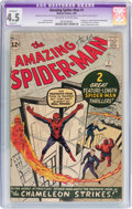 Silver Age (1956-1969):Superhero, The Amazing Spider-Man #1 (Marvel, 1963) CGC Apparent VG+ 4.5Slight (P) Off-white to white pages....