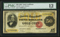 Large Size:Gold Certificates, Fr. 1193 $50 1882 Gold Certificate PMG Fine 12.. ...