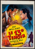 "Movie Posters:Mystery, Circle of Danger (RKO, 1951). Belgian (13.75"" X 19.25""). Mystery....."