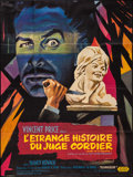 "Movie Posters:Horror, Diary of a Madman (United Artists, 1963). French Grande (46"" X61""). Horror.. ..."