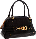Luxury Accessories:Bags, Gucci Black Alligator Large Bowling Bag. ...