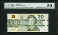 Canadian Currency: , Misalignment Error BC-58b $20 1991 . ...