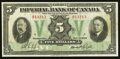 Canadian Currency: , Toronto, ON- Imperial Bank of Canada $5 Nov. 1, 1933 Ch. #375-18-04. ...