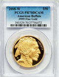 Modern Bullion Coins, 2008-W G$50 One-Ounce Gold American Buffalo PR70 Deep Cameo PCGS..9999 Fine Gold. PCGS Population (422). NGC Census: (1531...