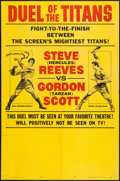 "Movie Posters:Action, Duel of the Titans (Paramount, 1963). One Sheet (27"" X 41"") Style B""Fight Poster"" Style. Action.. ..."