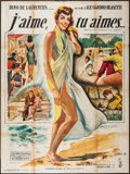 """Movie Posters:Foreign, I Love, You Love (Columbia, 1962). French Grande (47"""" X 62.75""""). Foreign.. ..."""