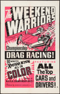 "Movie Posters:Sports, The Weekend Warriors (Champion, 1966). Day-Glo Silkscreen One Sheet(28"" X 44""). Sports.. ..."