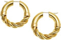 Estate Jewelry:Earrings, A PAIR OF GOLD EARRINGS, SOHO. The 18k gold earrings weigh 18.72grams, marked Soho.. Diameter: 1-1/2 inches. *Note:e...