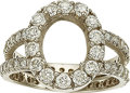 Estate Jewelry:Rings, A DIAMOND, WHITE GOLD ETERNITY SEMI-MOUNT. The ring featuresfull-cut diamonds weighing a total of approximately 1.40 carats...