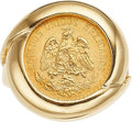 Estate Jewelry:Rings, A GOLD COIN, GOLD RING. The ring features a Mexican 2-1/2 pesosgold coin dated 1945, set in 14k gold. Gross weight 8.80 gra...