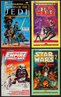 Star Wars Marvel Illustrated Books & Others Lot (Marvel Comic Group, 1980s). Paperback Books (6) (Multiple Pages, 4&...