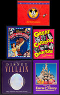 """Movie Posters:Animation, Disney Book Lot (Various, 1991-1993). Hardbound Books (2) (Multiple Pages, 9"""" X 11.5"""" & 10.25"""" X 11.25""""), and Paperback Book... (Total: 5 Items)"""