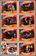 "Movie Posters:Crime, Destination Murder (RKO, 1950). Lobby Card Set of 8 (11"" X 14"").Crime.. ... (Total: 8 Items)"
