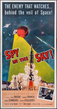 """Spy in the Sky! (Allied Artists, 1958). Three Sheet (41"""" X 78""""). Thriller"""