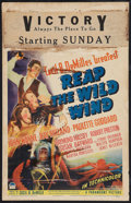 "Movie Posters:Adventure, Reap the Wild Wind (Paramount, 1942). Window Card (14"" X 22"").Adventure.. ..."