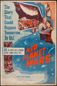"""Red Planet Mars (United Artists, 1952). Poster (40"""" X 60""""). Science Fiction"""