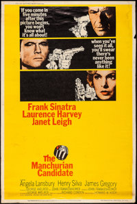 """The Manchurian Candidate (United Artists, 1962). Poster (40"""" X 60"""") Style Y. Thriller"""