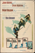 "Movie Posters:Western, Rio Bravo (Warner Brothers, 1959). Poster (40"" X 60"") Style Y.Western.. ..."