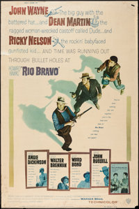 "Rio Bravo (Warner Brothers, 1959). Poster (40"" X 60"") Style Y. Western"