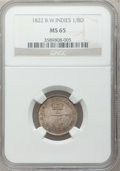 British West Indies, British West Indies: British Colony 1/8 Dollar 1822,...