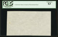 """Fractional Currency:First Issue, """"CSA"""" Watermarked Paper - Single Block. PCGS Choice New 63.. ..."""