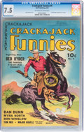 Golden Age (1938-1955):Western, Crackajack Funnies #9 (Dell, 1939) CGC VF- 7.5 Off-white to whitepages....