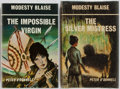 Books:Mystery & Detective Fiction, [Modesty Blaise]. Peter O'Donnell. Group of Two First Editions.The Impossible Virgin and The Silver Mistres... (Total: 2Items)
