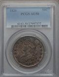 Bust Half Dollars: , 1826 50C AU50 PCGS. PCGS Population (168/1019). NGC Census:(77/1092). Mintage: 4,000,000. Numismedia Wsl. Price for proble...