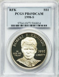 Modern Issues: , 1998-S $1 Robert F. Kennedy Silver Dollar PR69 Deep Cameo PCGS.PCGS Population (1178/43). NGC Census: (1305/64). Numismed...