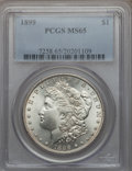 Morgan Dollars: , 1899 $1 MS65 PCGS. PCGS Population (1099/216). NGC Census:(587/78). Mintage: 330,846. Numismedia Wsl. Price for problem fr...