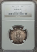 Standing Liberty Quarters: , 1917 25C Type One MS64 Full Head NGC. NGC Census: (1285/1111). PCGSPopulation (1701/1442). Mintage: 8,740,000. Numismedia ...