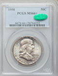 Franklin Half Dollars: , 1958 50C MS66+ PCGS. CAC. PCGS Population (1512/35). NGC Census:(950/29). Mintage: 4,000,000. Numismedia Wsl. Price for pr...