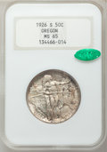Commemorative Silver, 1926-S 50C Oregon MS65 NGC. CAC. NGC Census: (1003/814). PCGS Population: (1177/702). CDN: $200 Whsle. Bid for problem-free...